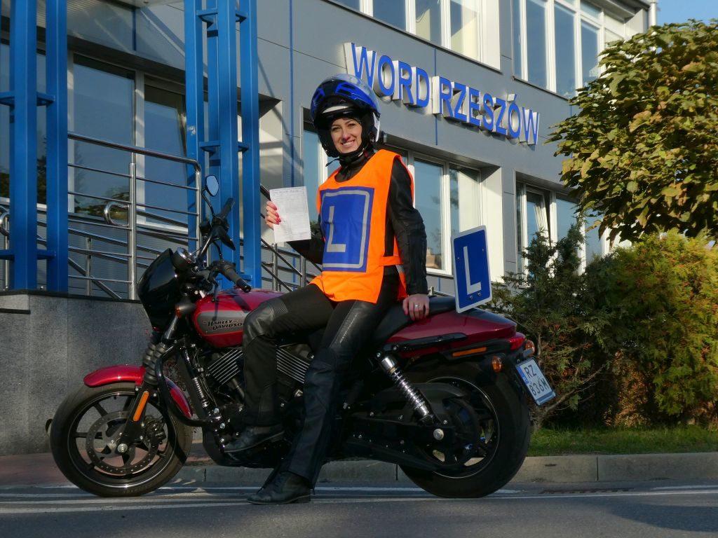 Harley-Davidson na egzaminie