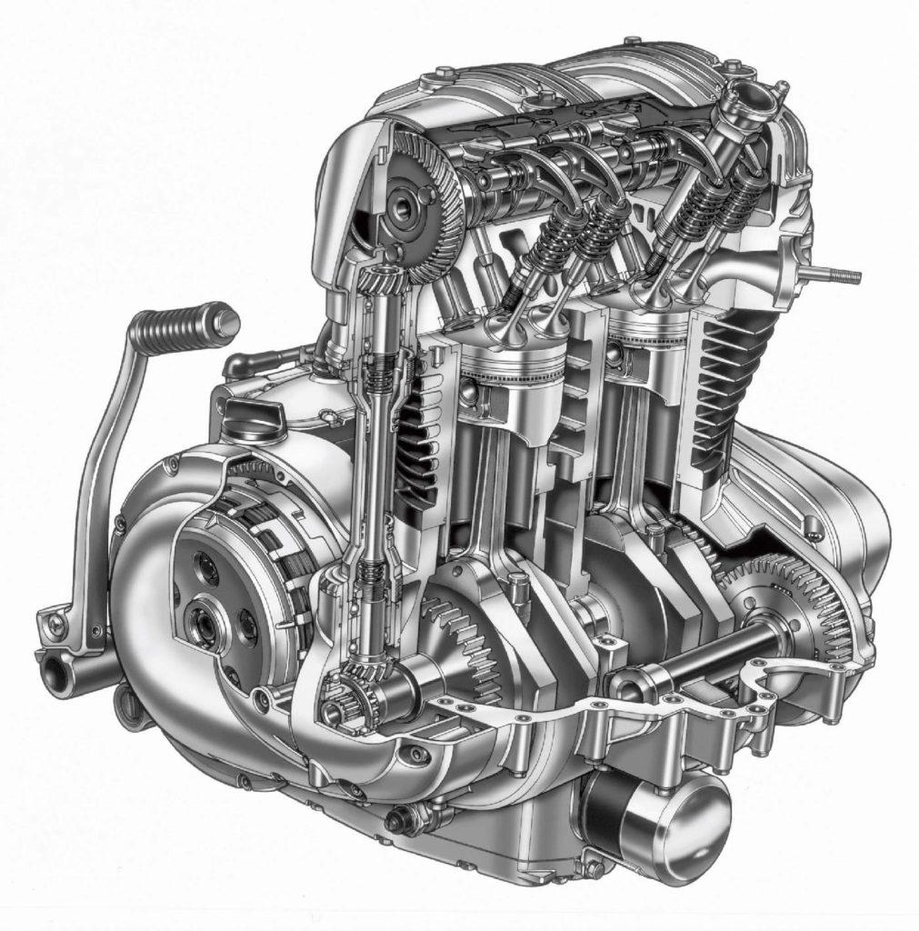 Silniki z równolegle pracującymi tłokami osiągają relatywnie wysokie wartości momentu obrotowego już od niskich obrotów.