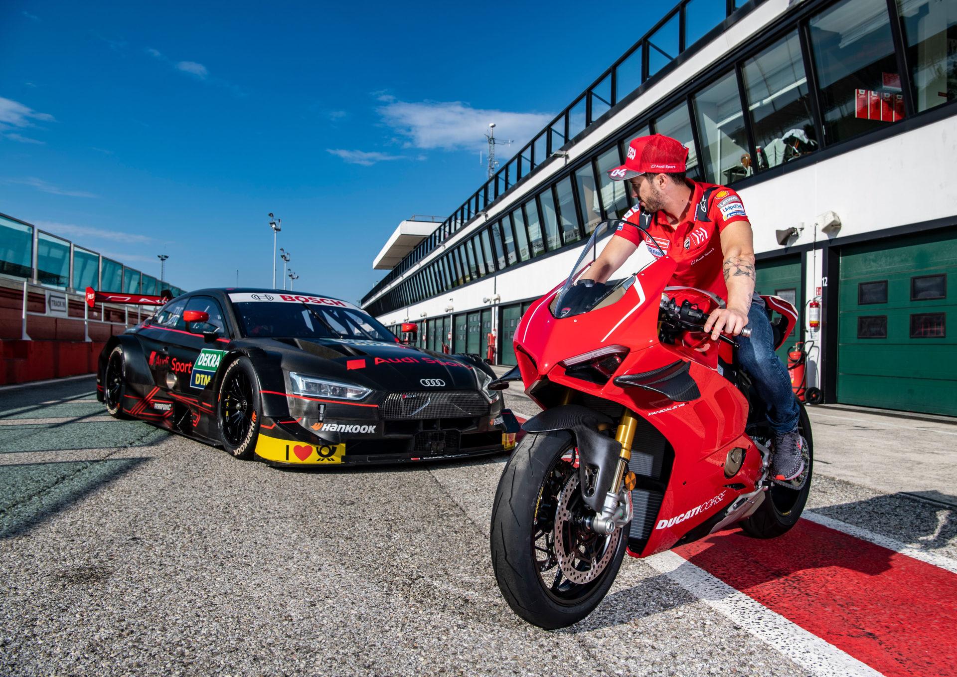 Andrea Dovizioso / Ducati Panigale V4 R, Audi RS 5 DTM