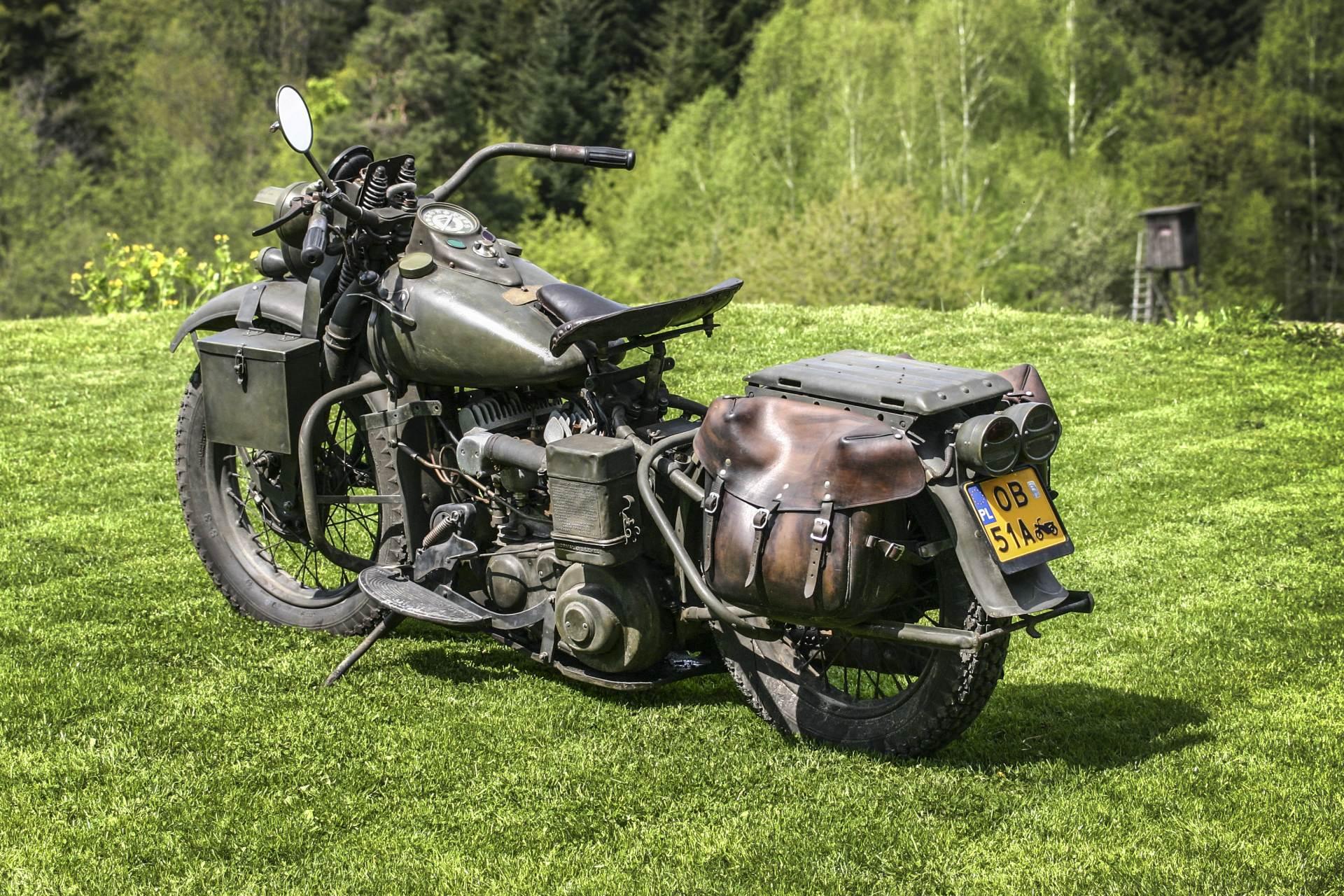 Harley Davidson WLA 42- amerykański motocykl wojskowy