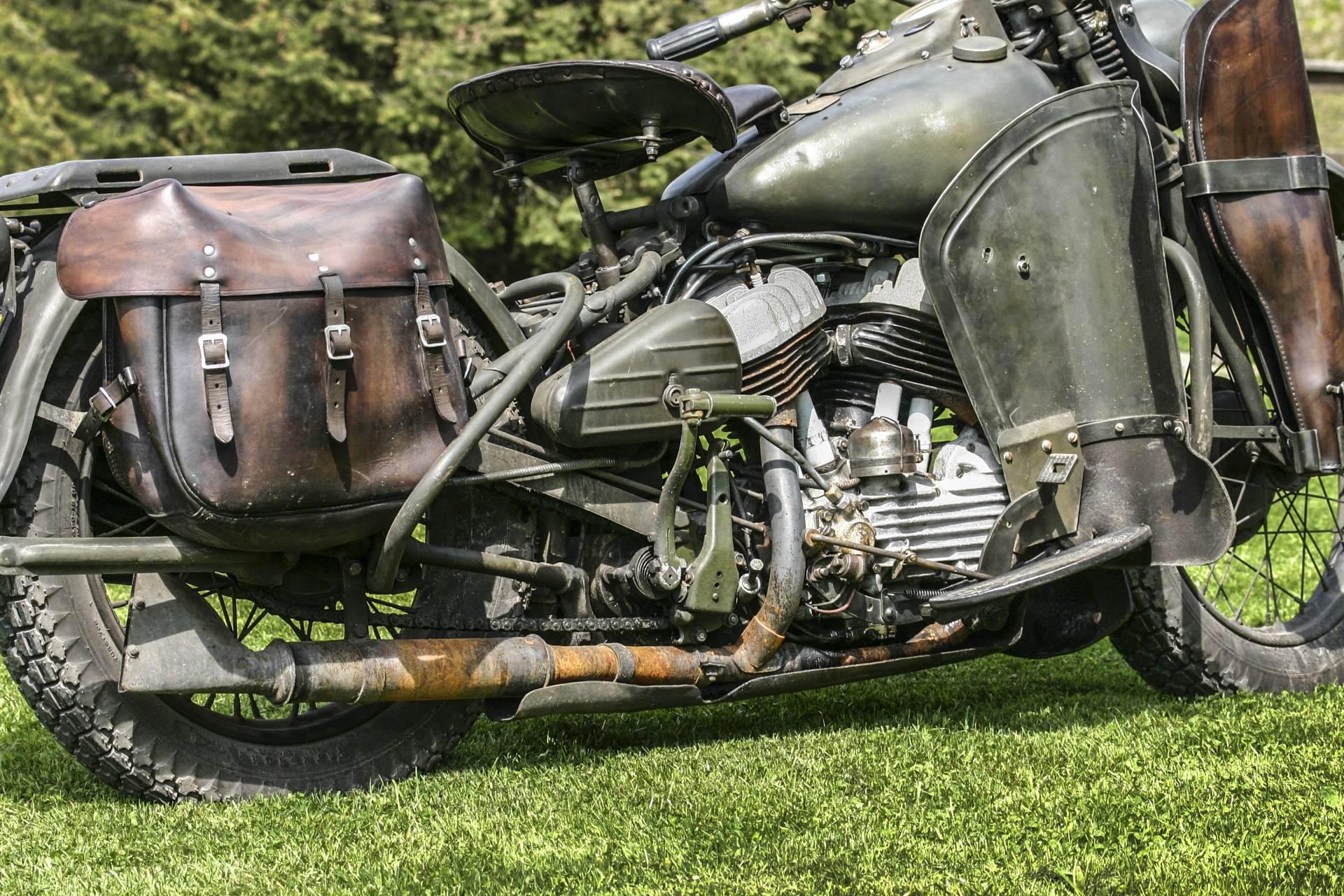Harley Davidson WLA 42. Amerykański motor wojskowy