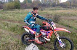 Emil Juszczak na Beta RR 300 Racing