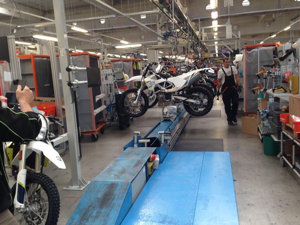 Husqvarna w Mattighofen fabryka KTM