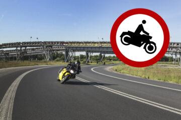 Zakaz dla motocykli - Żłobnica