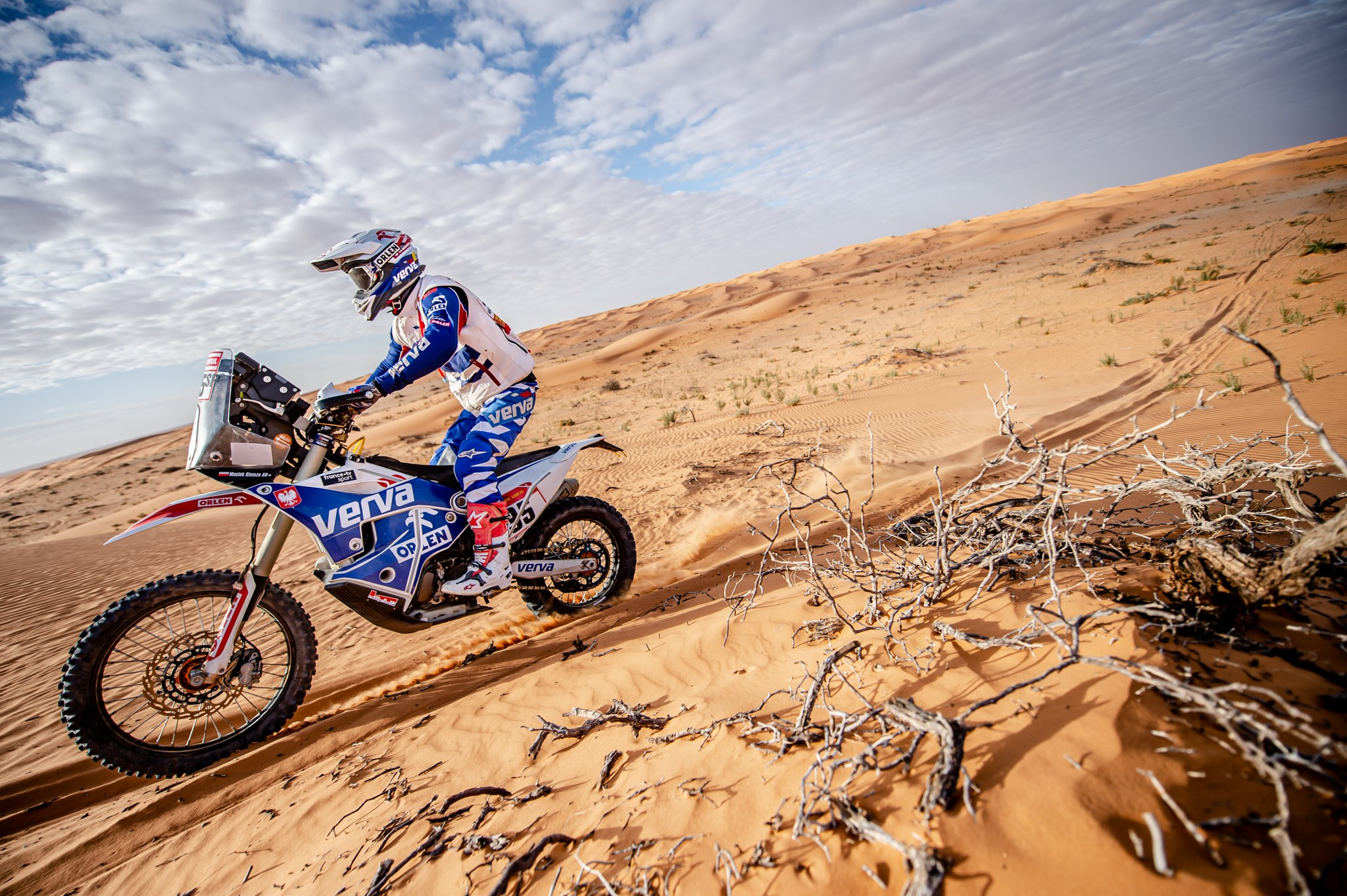 Dakar 2020, Maciek Giemza na siódmym etapie rajdu