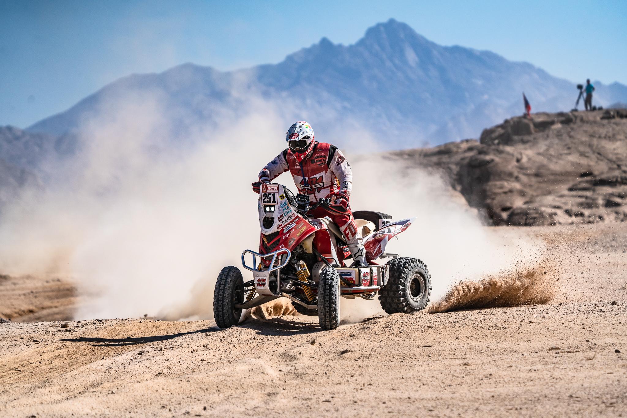 Rafał Sonik i jego quad na rajdzie Dakar 2020