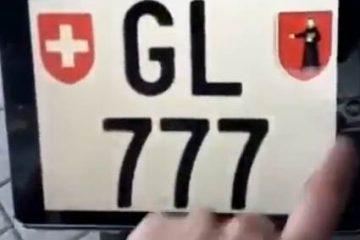 elektroniczna tablica rejestracyjna