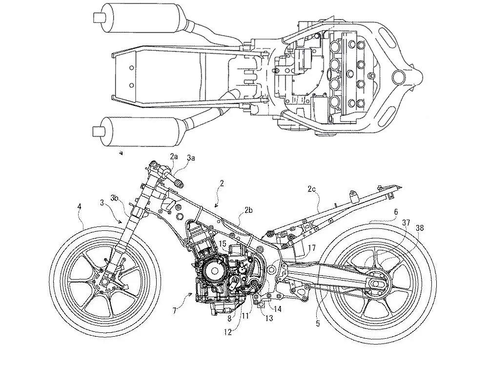 Nowa Suzuki Hayabusa - szkic patentowy