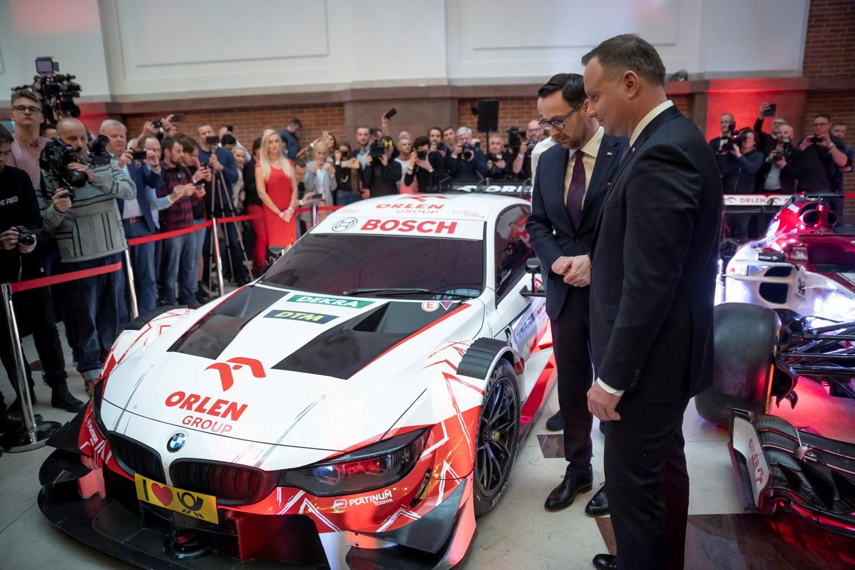 Robert Kubica i jego samochód DTM