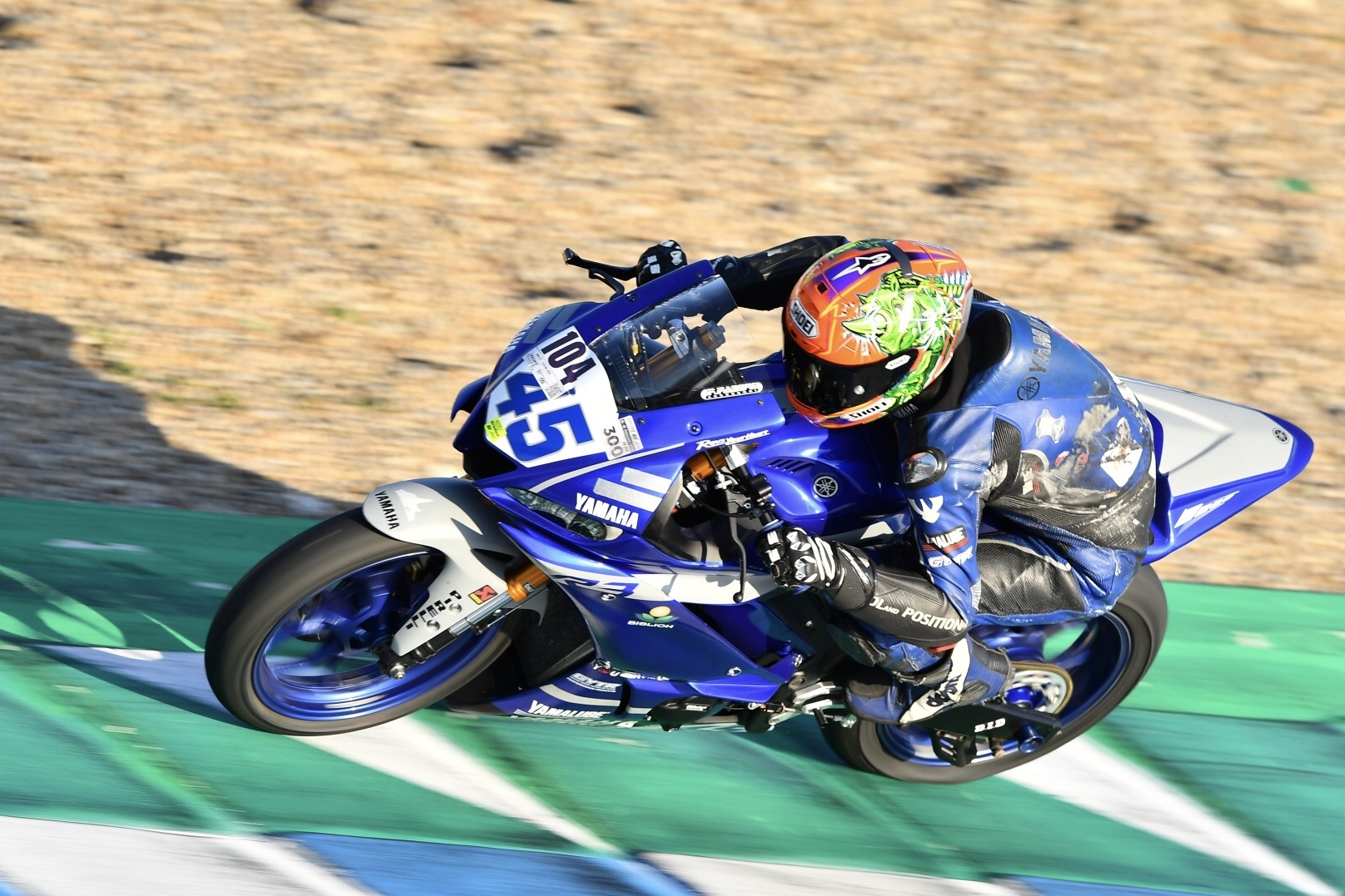 Daniel Blin za czasu startów w World Supersport 300