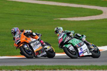 Piotr Biesiekirski w wyścigu Moto2 o GP Europy
