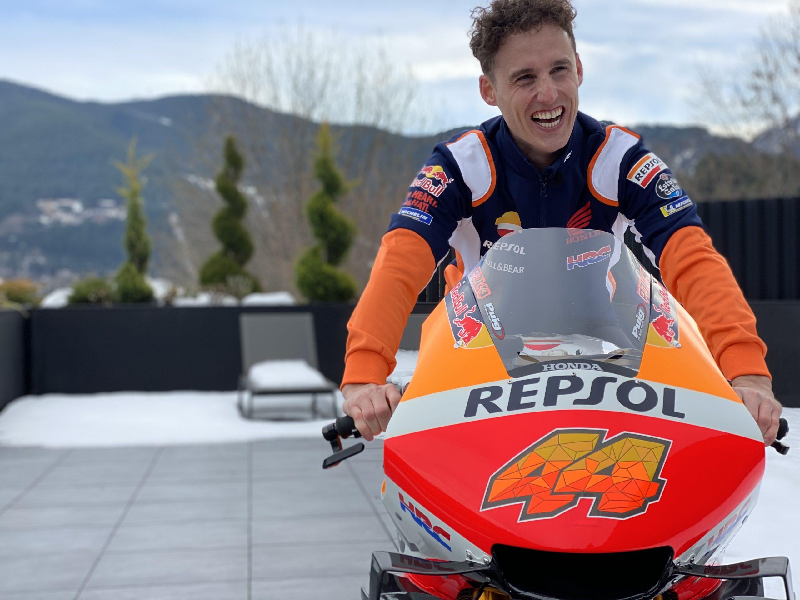 Pol Espargaro po raz pierwszy na motocyklu Repsol Hondy