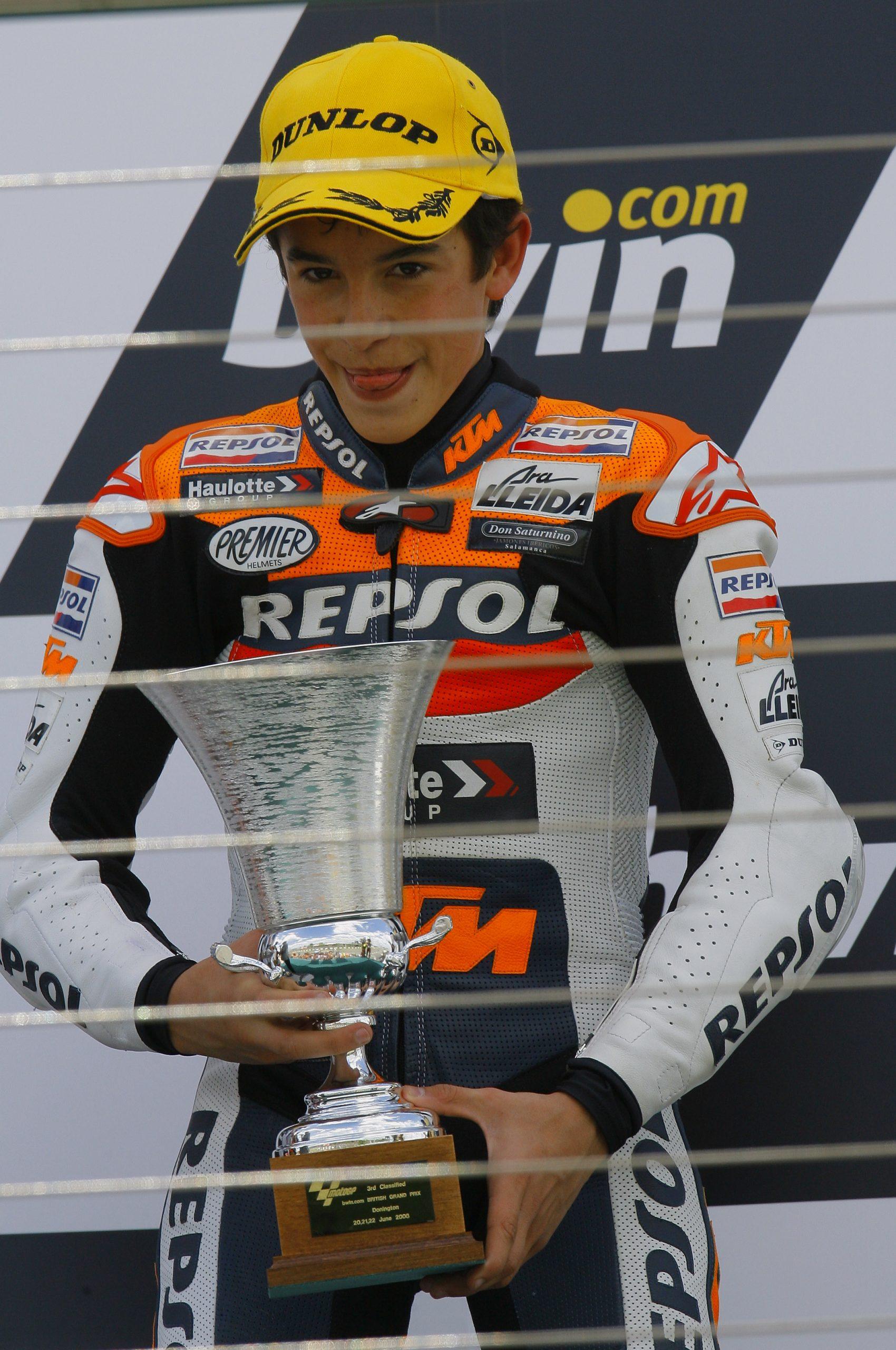 Pierwsze podium Marka Marqueza w 2008 roku