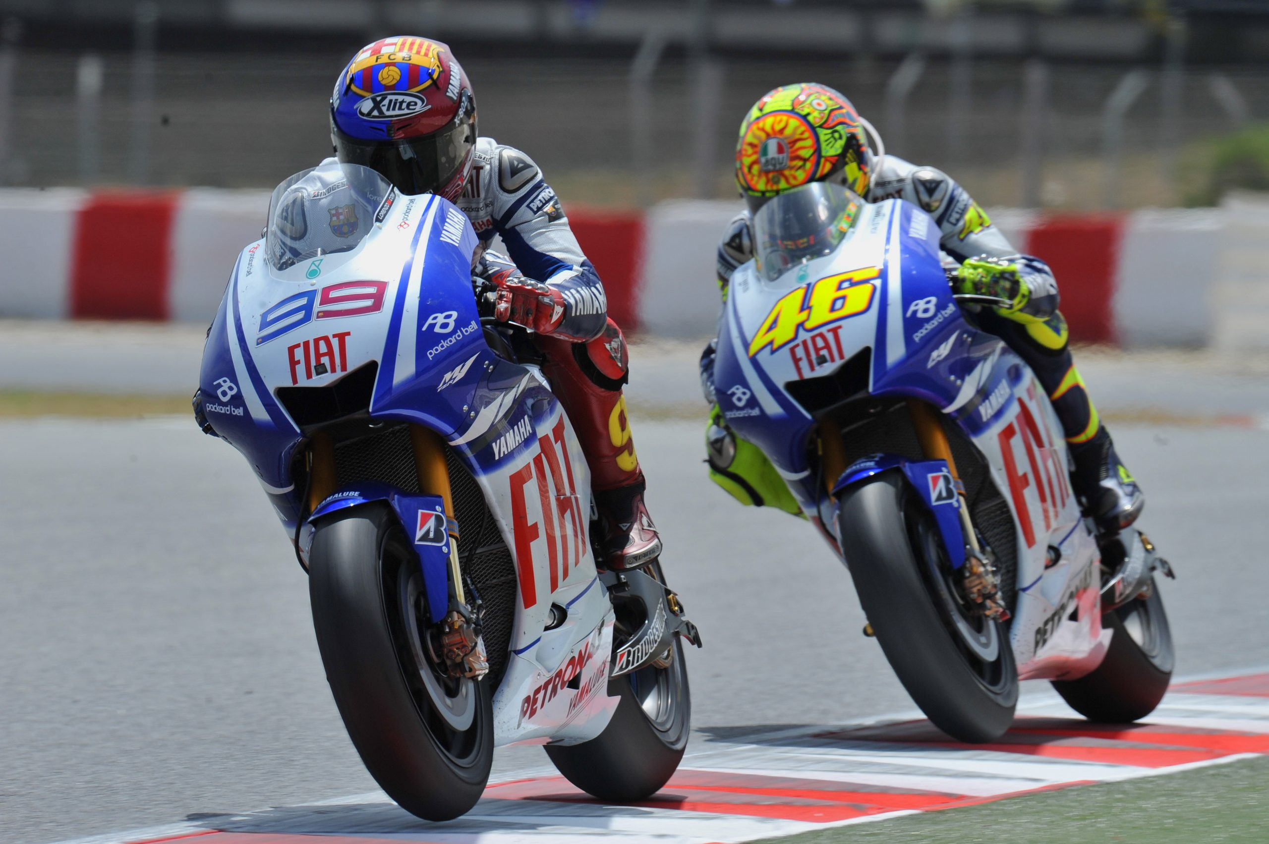Valentino Rossi vs Jorge Lorenzo w Katalonii w 2009 roku