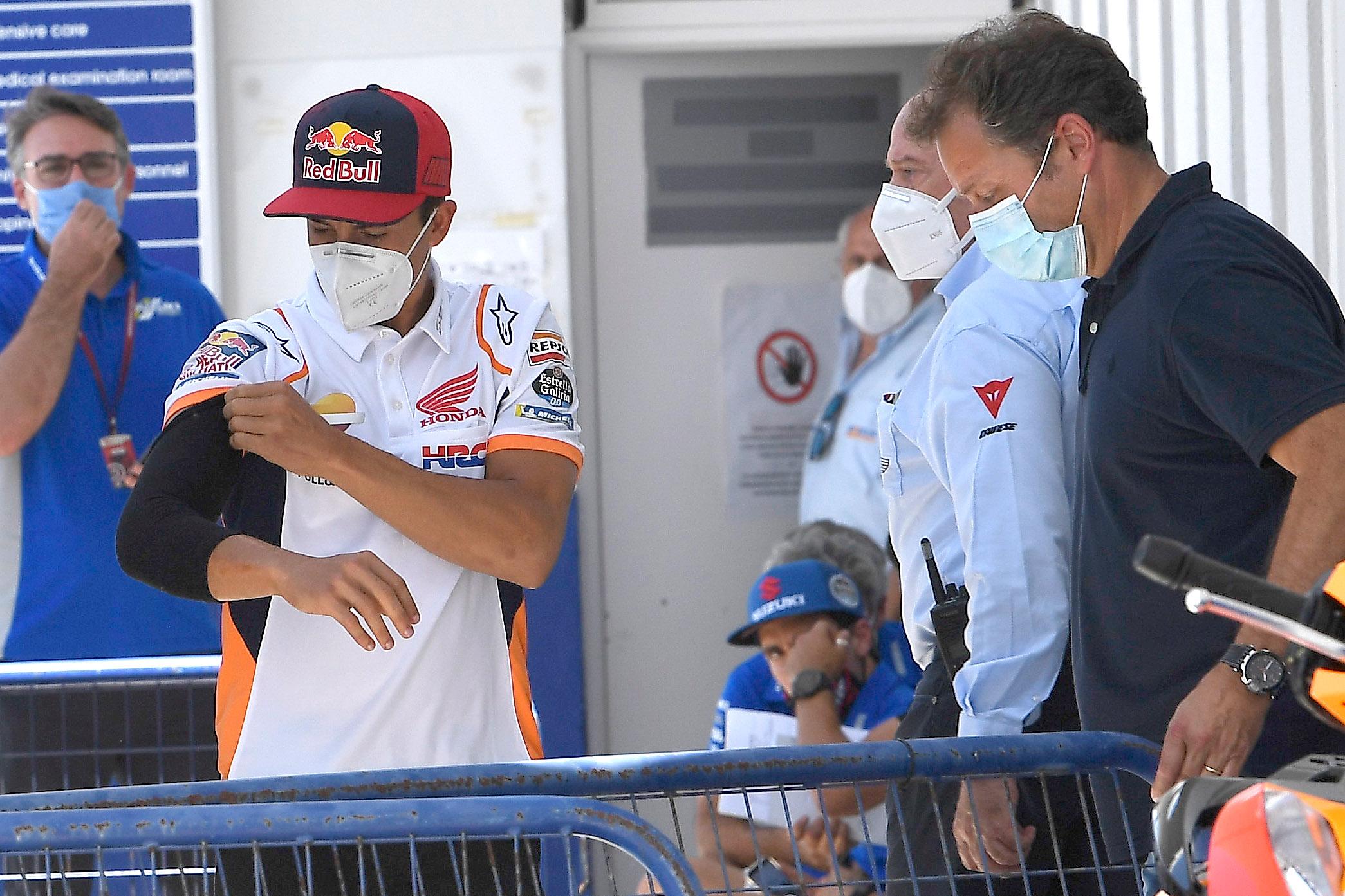 Marc Marquez po testach medycznych w Andaluzji w 2020 przed startem rundy MotoGP
