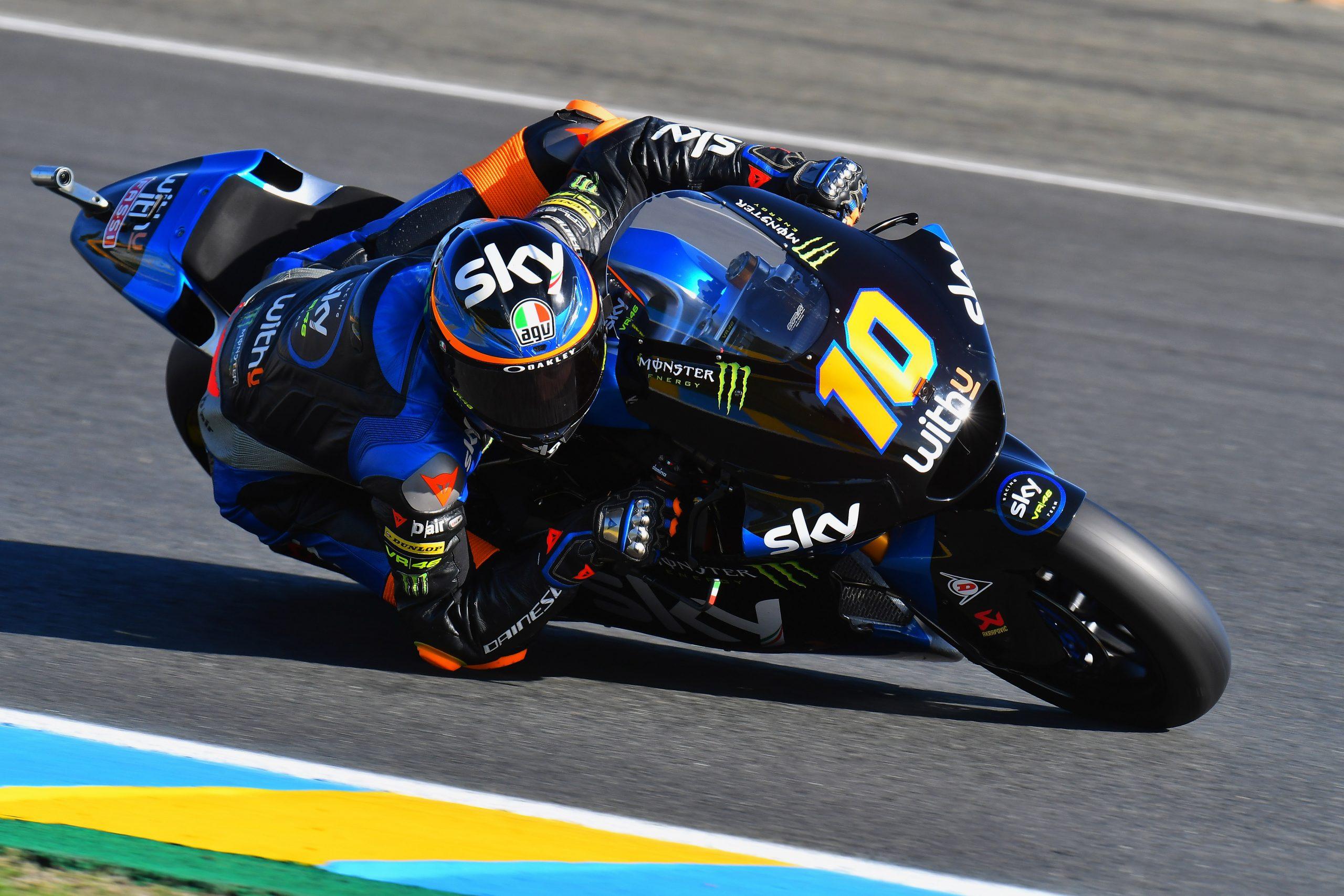 Luca Marini w akcji w sezonie 2020