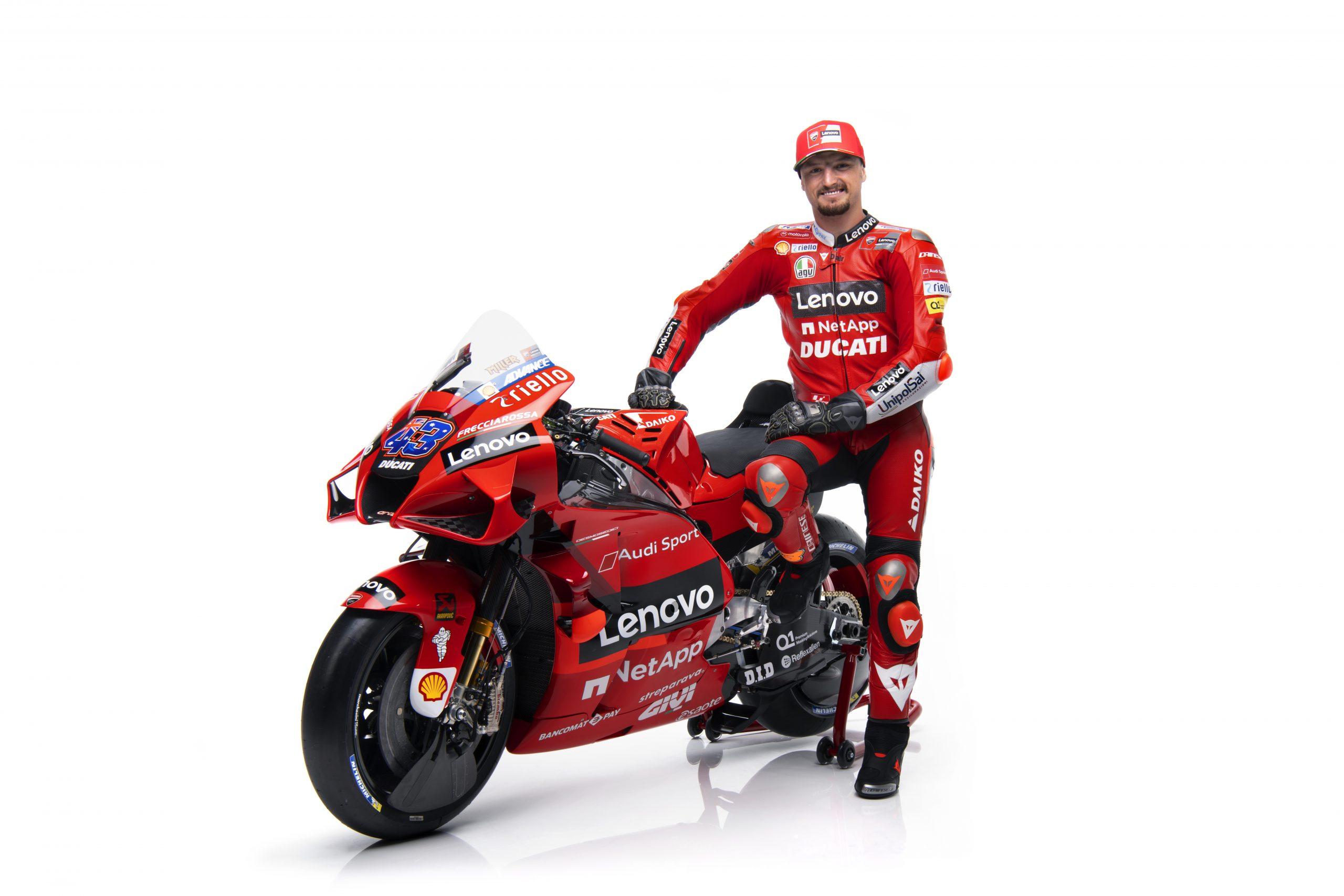 Jack Miller podczas prezentacji Ducati Lenovo Team na sezon 2021 MotoGP