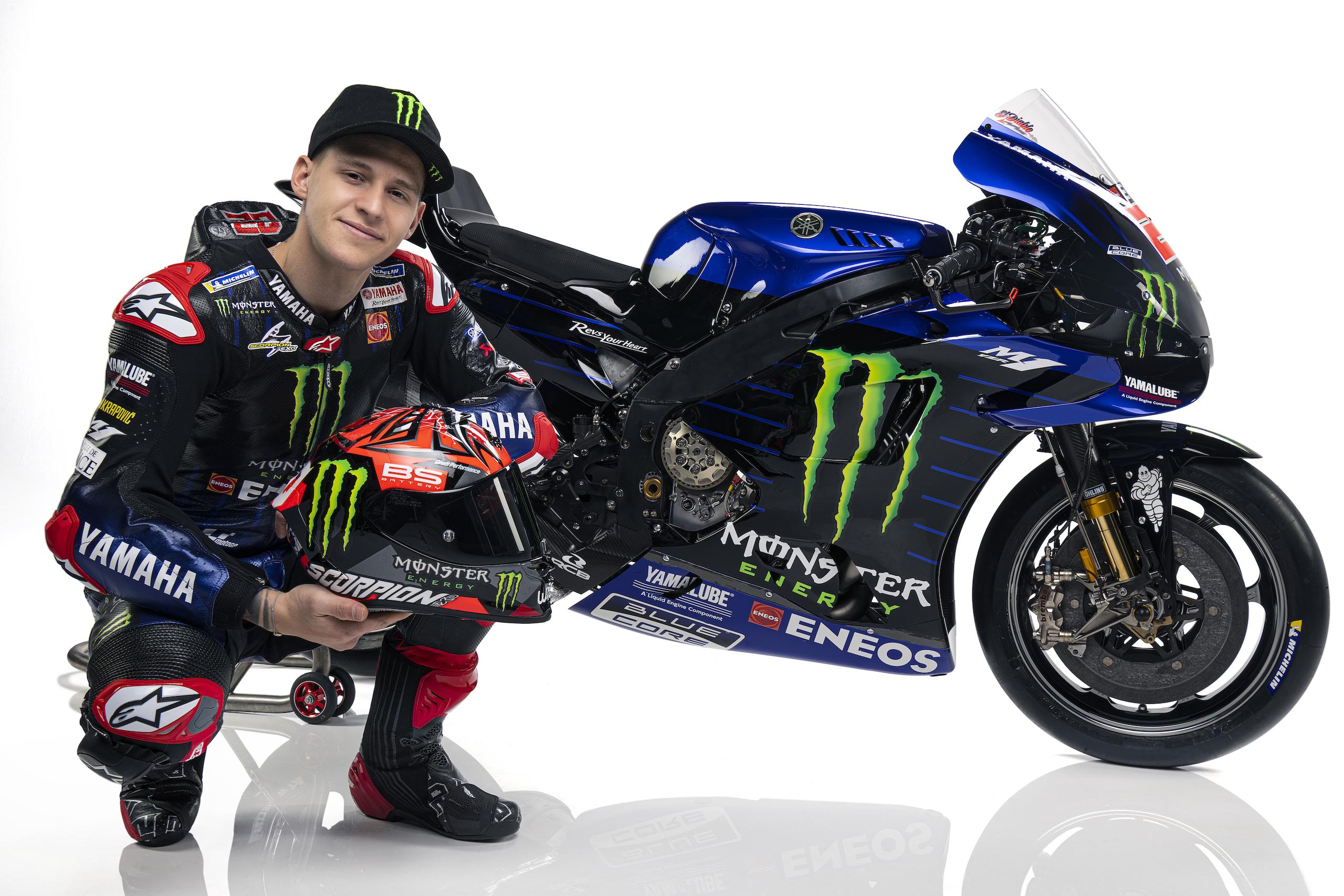 Fabio Quartararo podczas prezentacji na sezon 2021 MotoGP