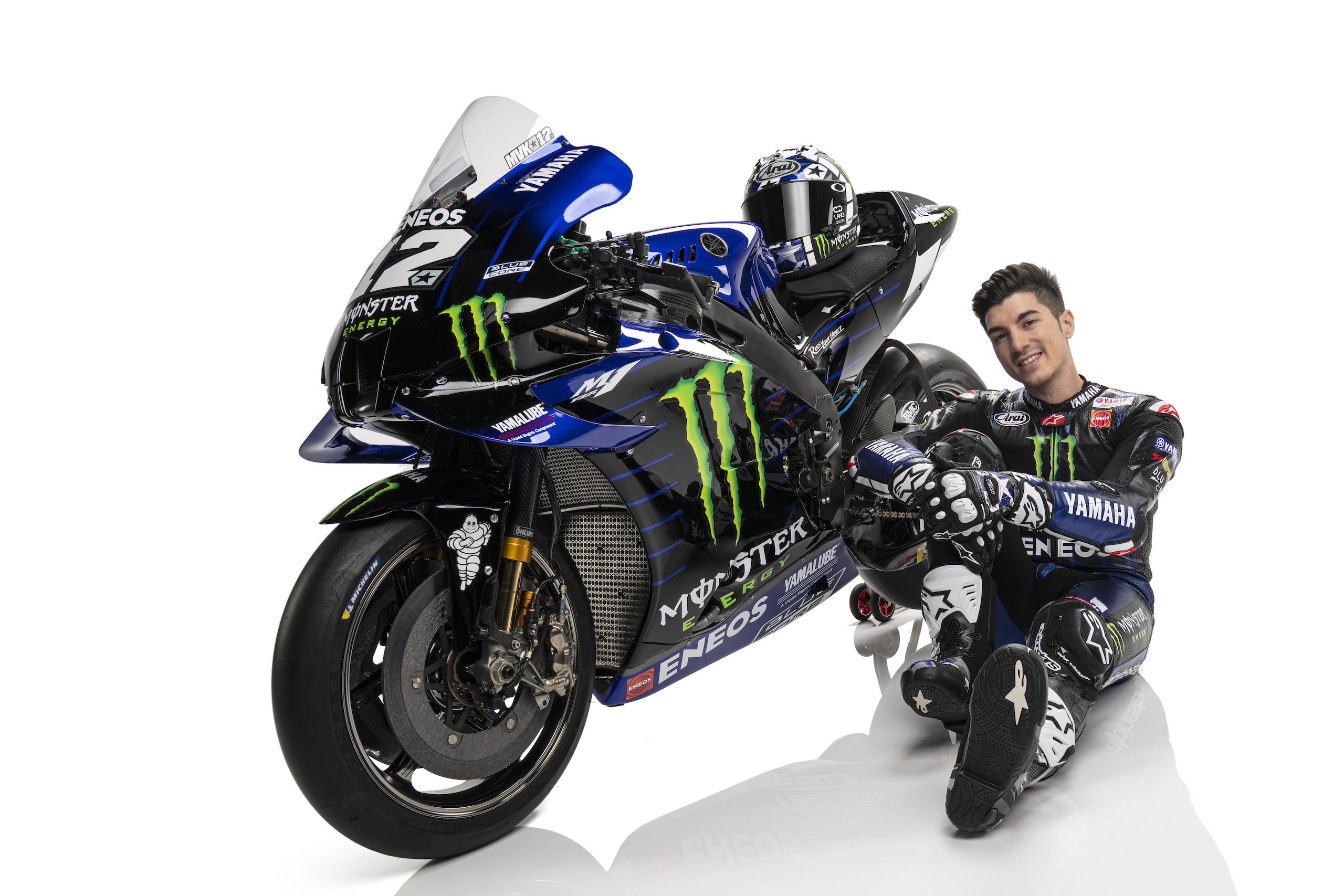 Maverick Vinales podczas prezentacji na sezon 2021 MotoGP