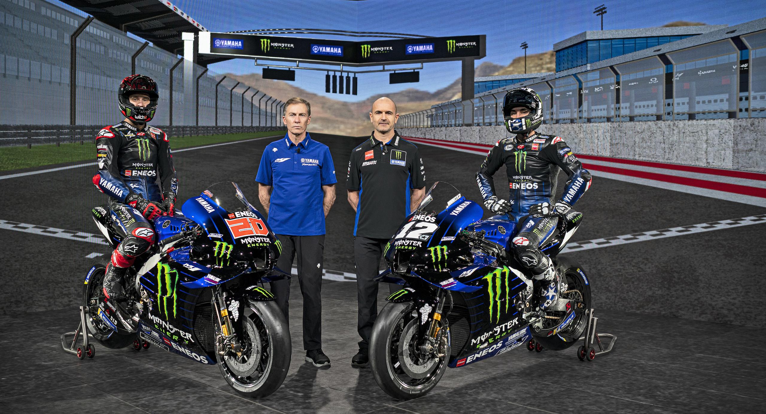 Monster Energy Yamaha w MotoGP: Quartararo, Jarvis, Meregalli, Vinales