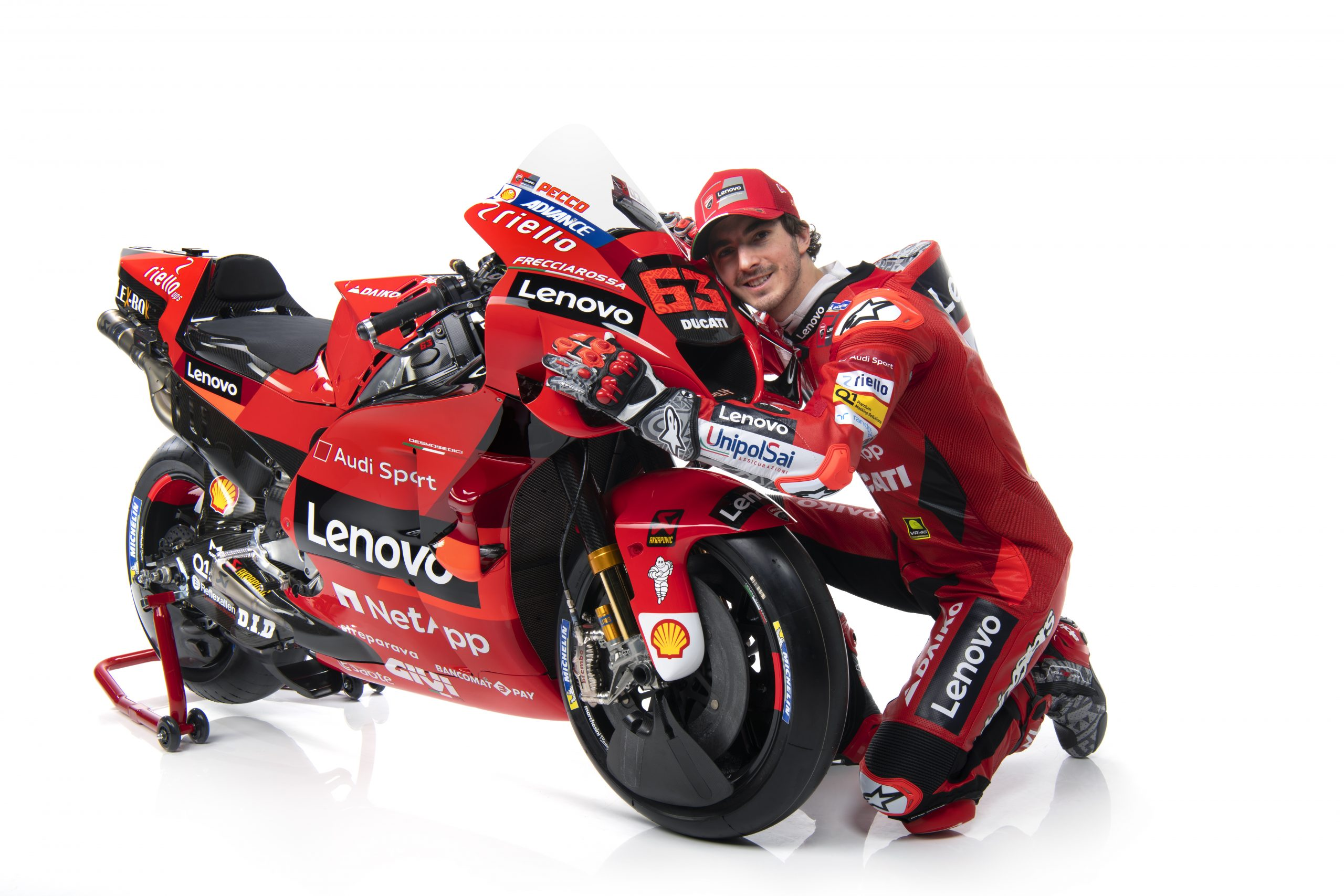 Francesco Bagnaia podczas prezentacji Ducati Lenovo Team na sezon 2021 MotoGP