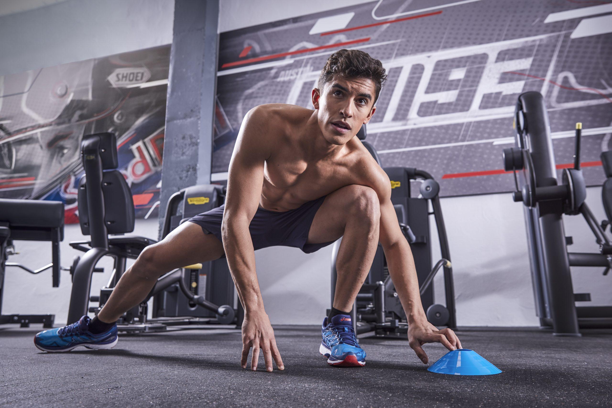 Marc Marquez podczas treningu