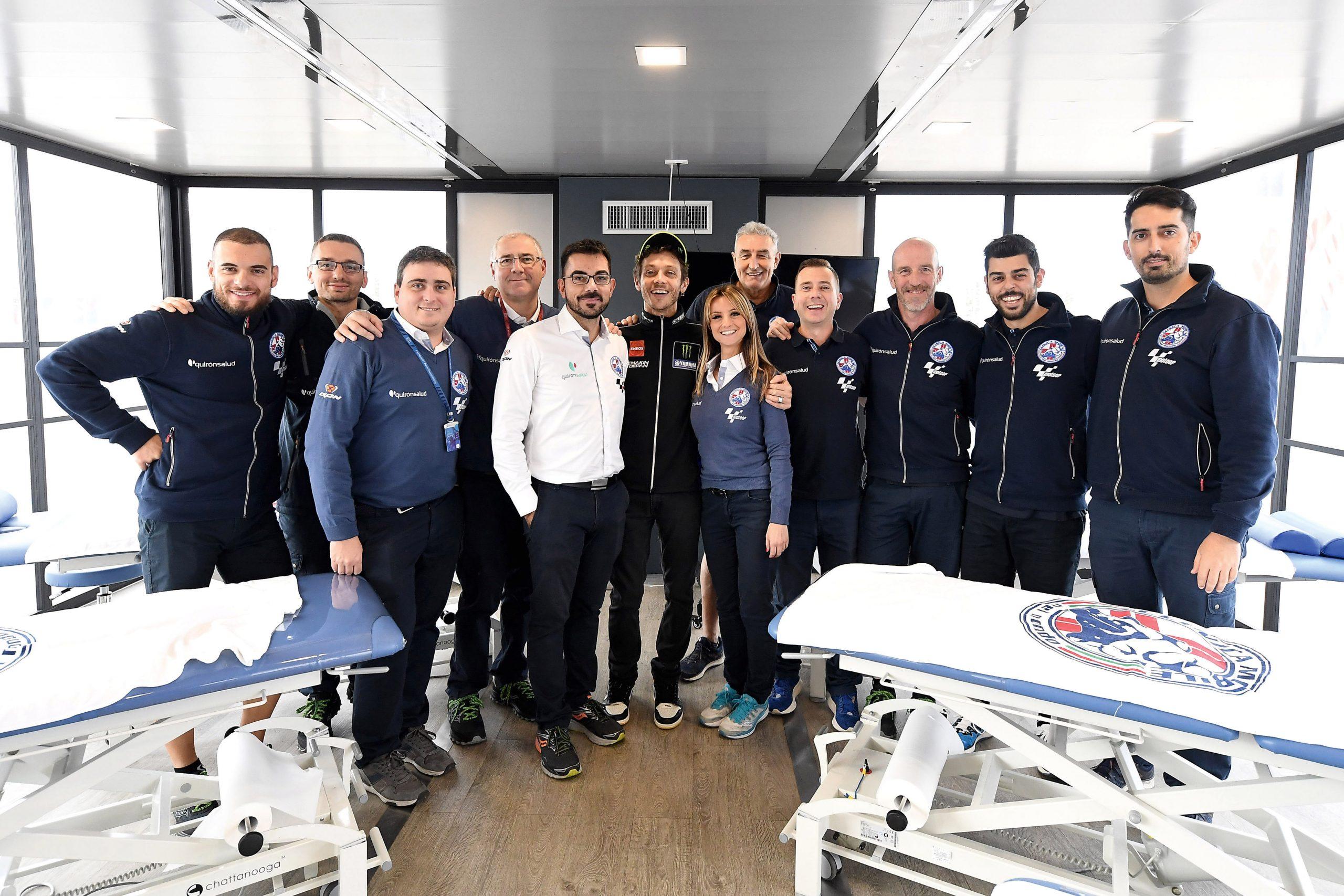 Valentino Rossi w Clinica Mobile