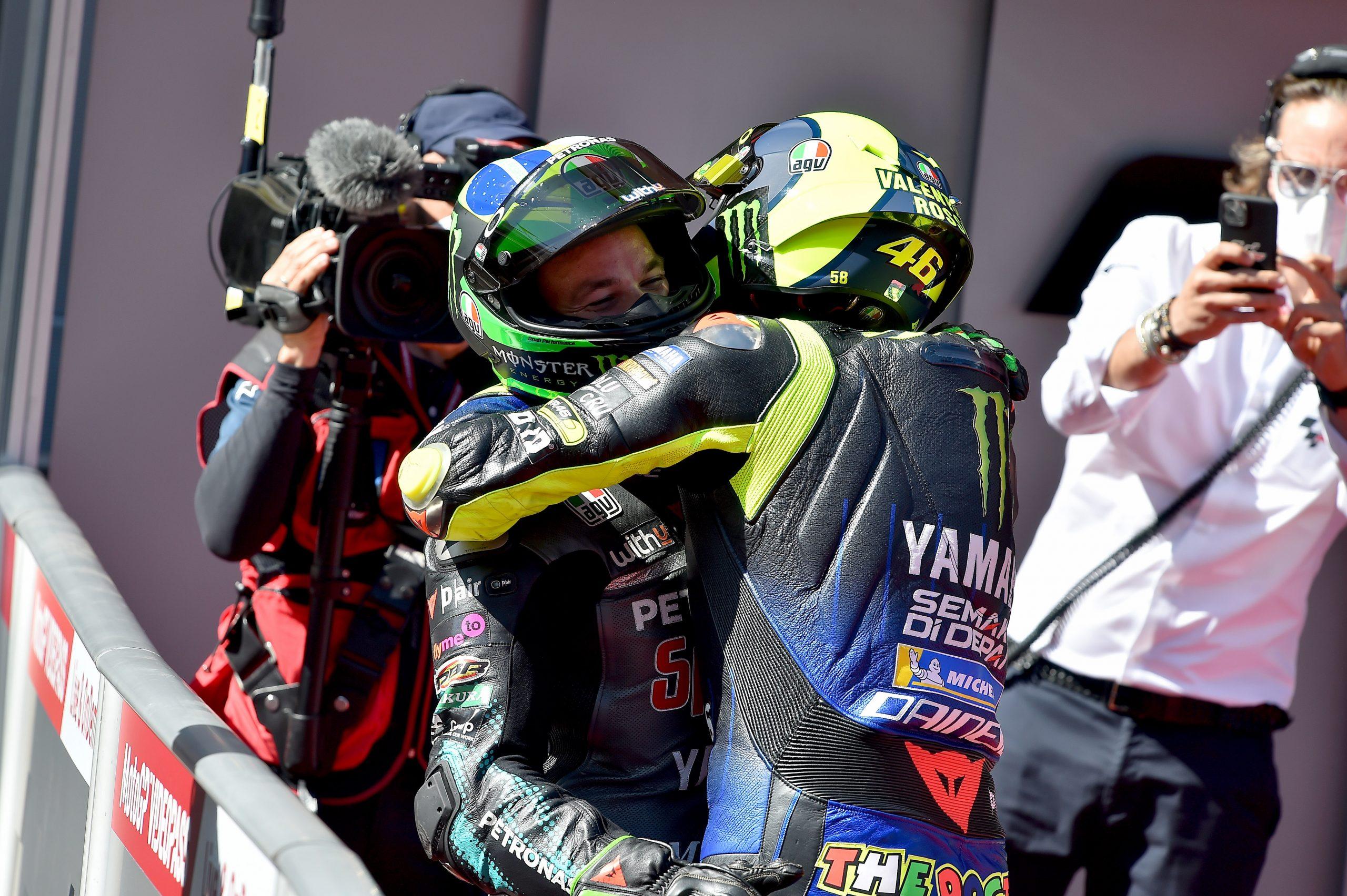 Franco Morbidelli i Valentino Rossi