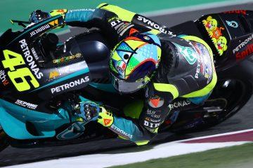 Valentino Rossi pierwszy raz na torze w barwach Petronas Yamaha SRT