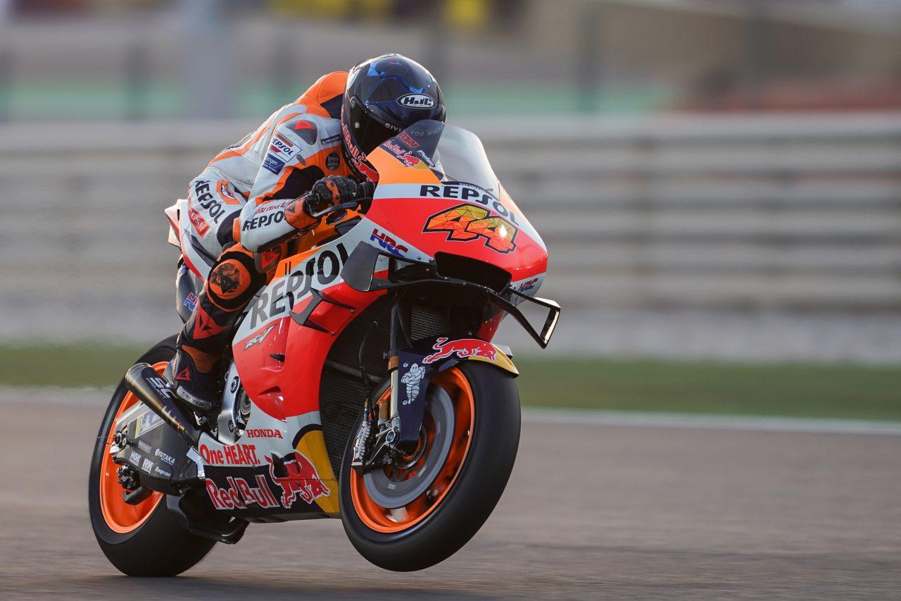 Pierwsze okrążenia Pola Espargaro na Hondzie podczas testów MotoGP w Katarze w 2021