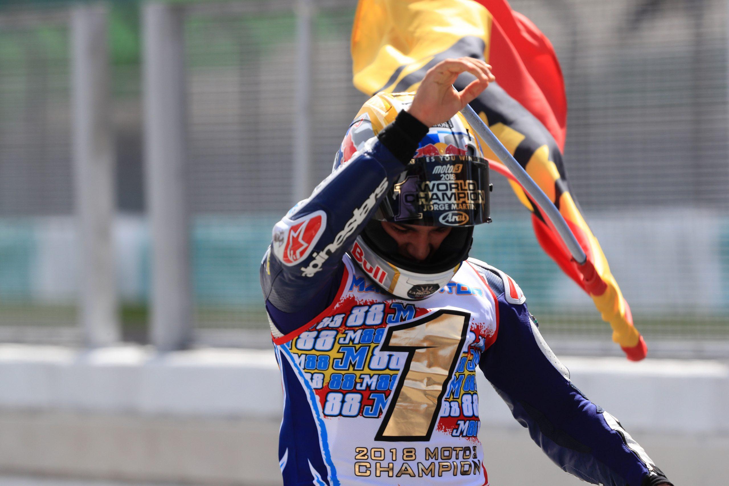 Jorge Martin mistrzem świata Moto3 w sezonie 2018