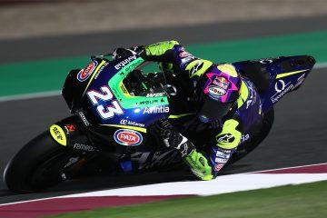 Enea Bastianini podczas pierwszych testów w MotoGP