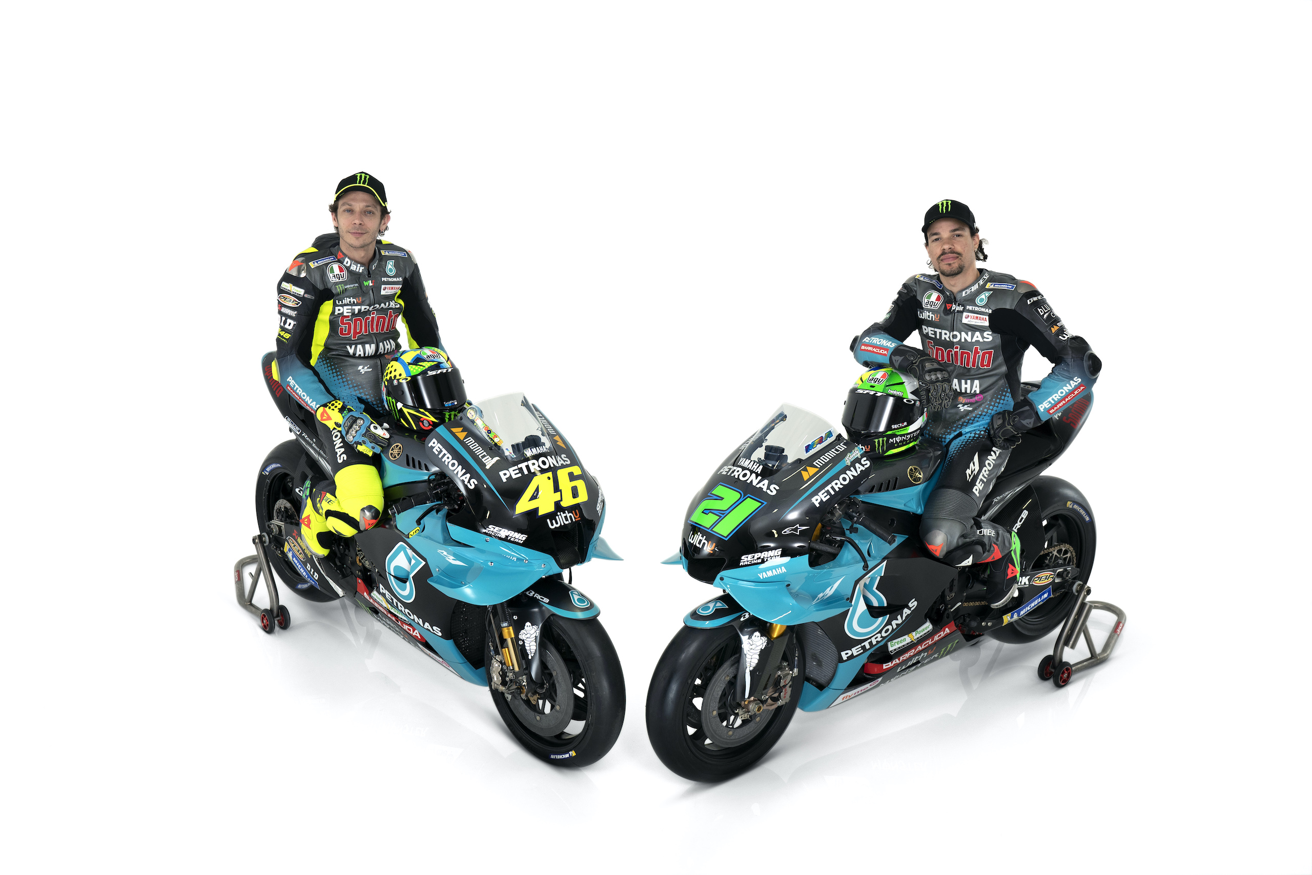 Valentino Rossi i Franco Morbidelli – prezentacja Petronas Yamaha SRT na sezon 2021 MotoGP
