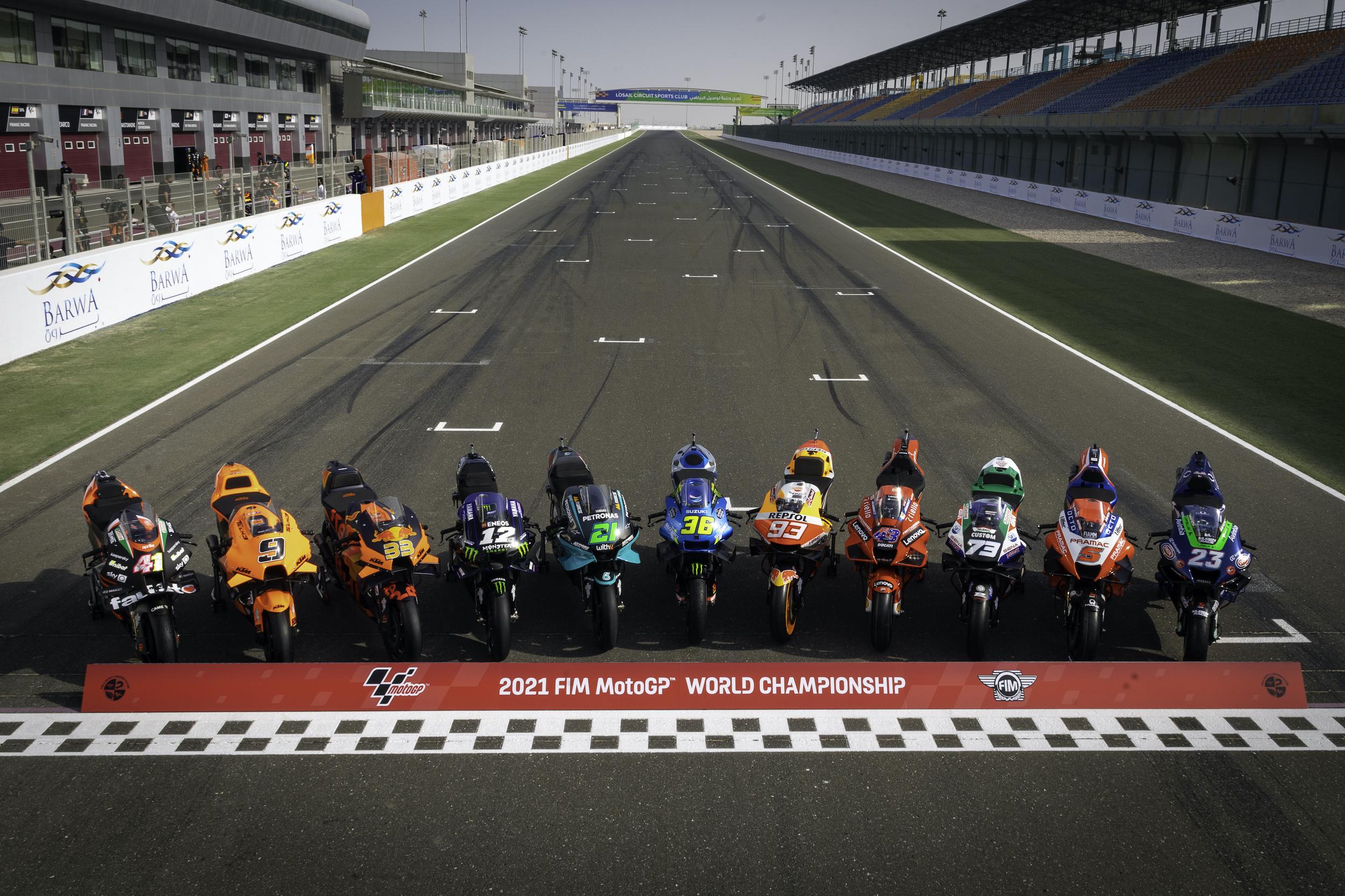 Motocykle MotoGP na sezon 2021