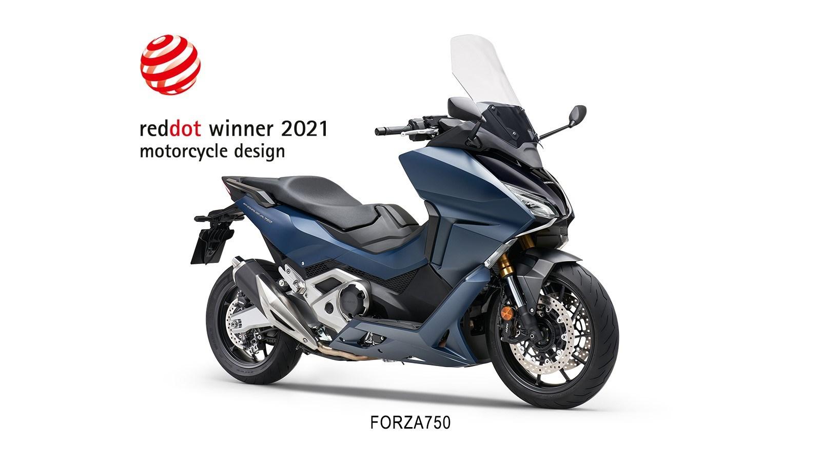 Honda Forza 750 z nagrodą Red Dot Awards