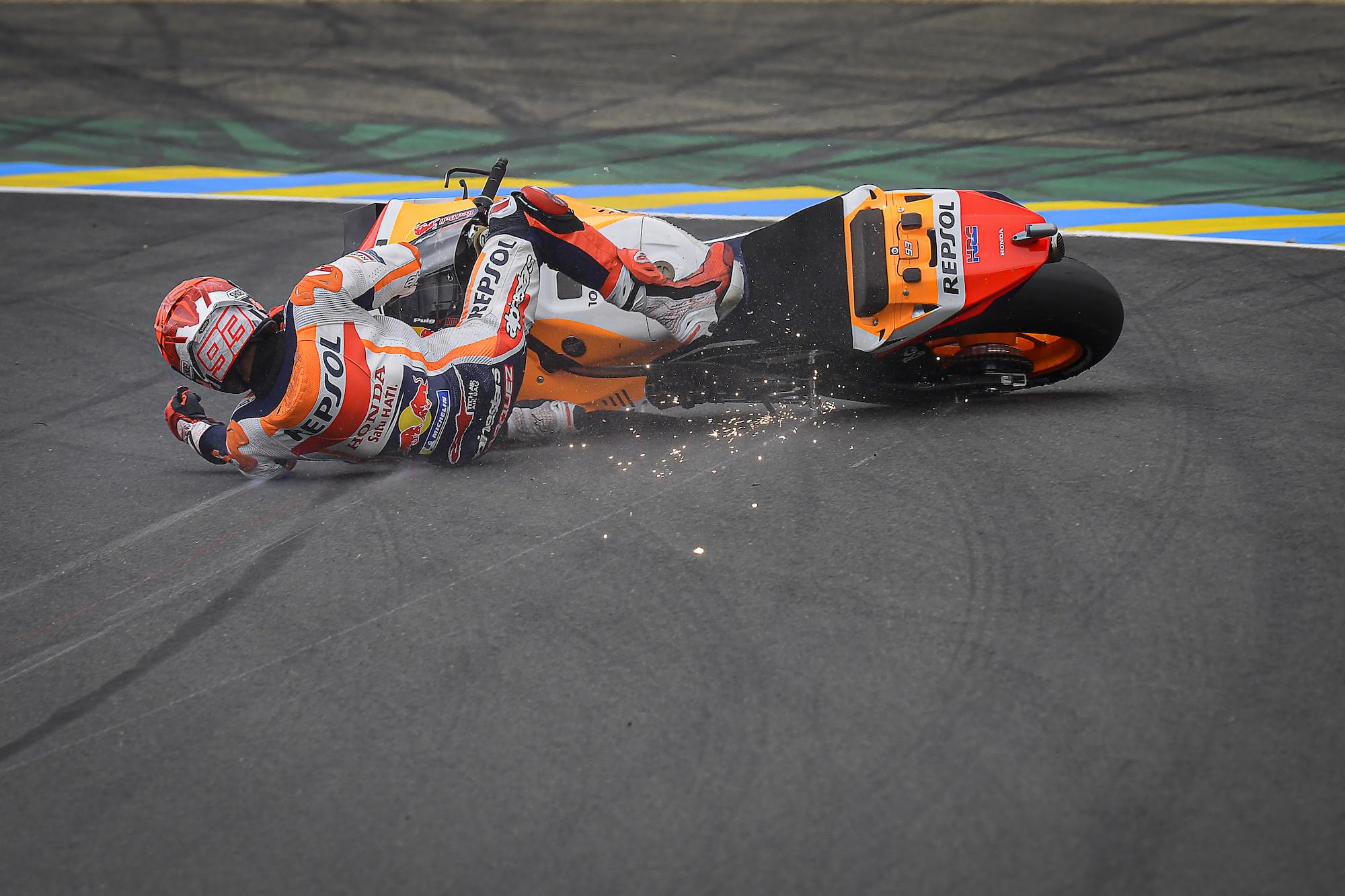 Marc Marquez – upadek podczas GP Francji 2021