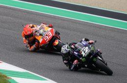 Maverick Vinales i Marc Marquez podczas rundy MotoGP o GP Włoch 2021 na Mugello