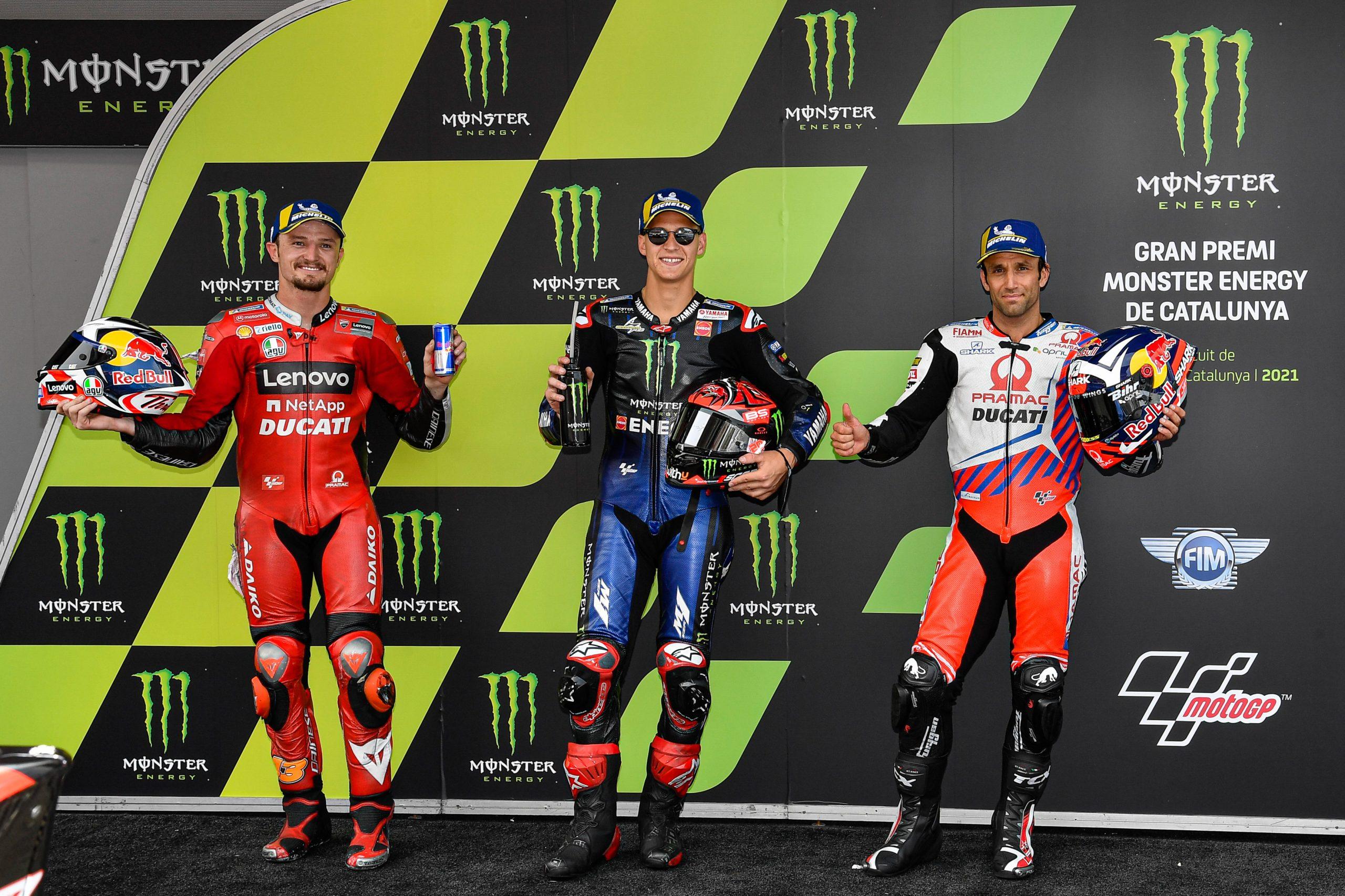 TOP3 klasyfikacji generalnej MotoGP - Miller Quartararo Zarco