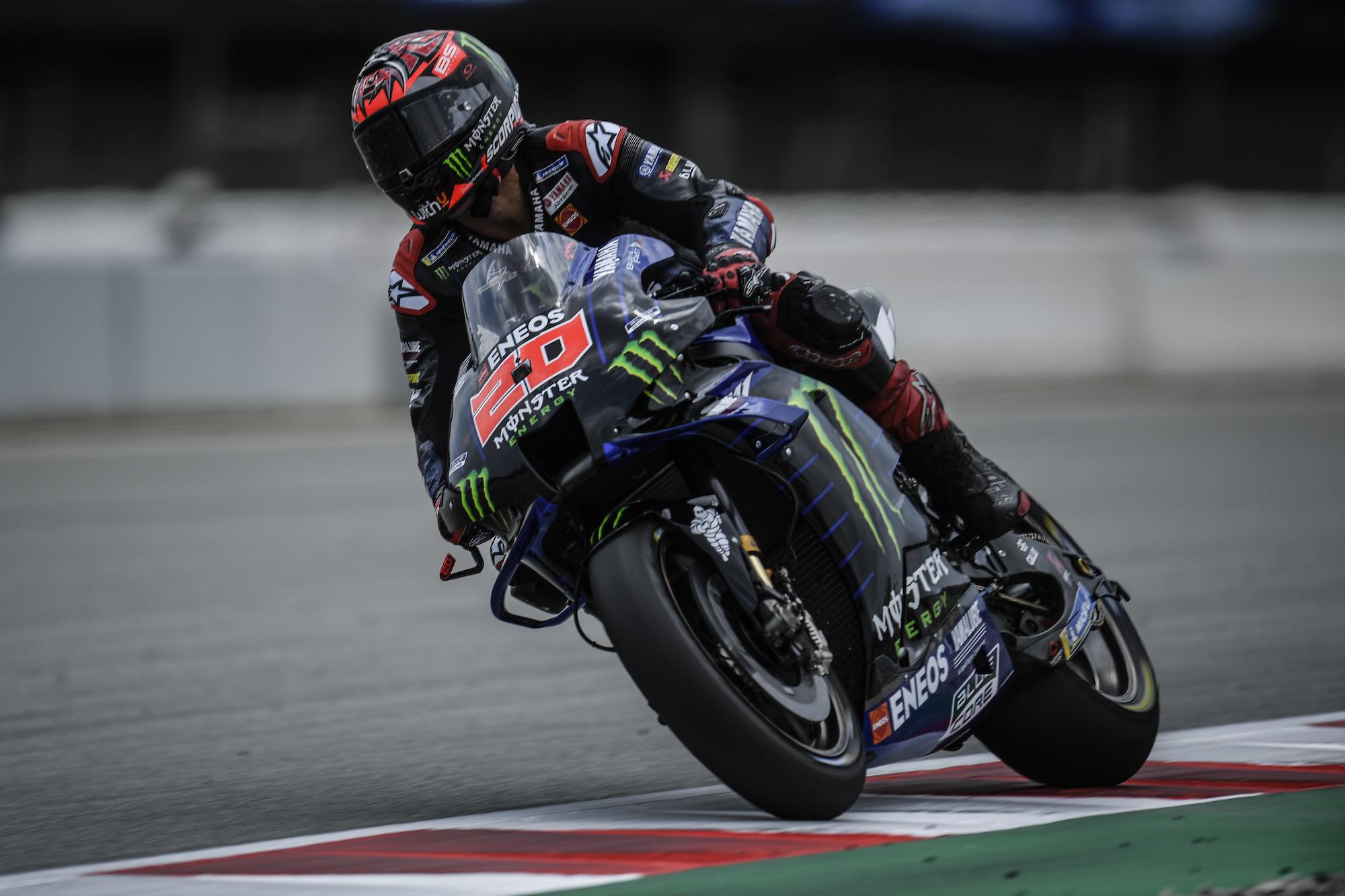 Fabio Quartararo podczas GP Katalonii 2021