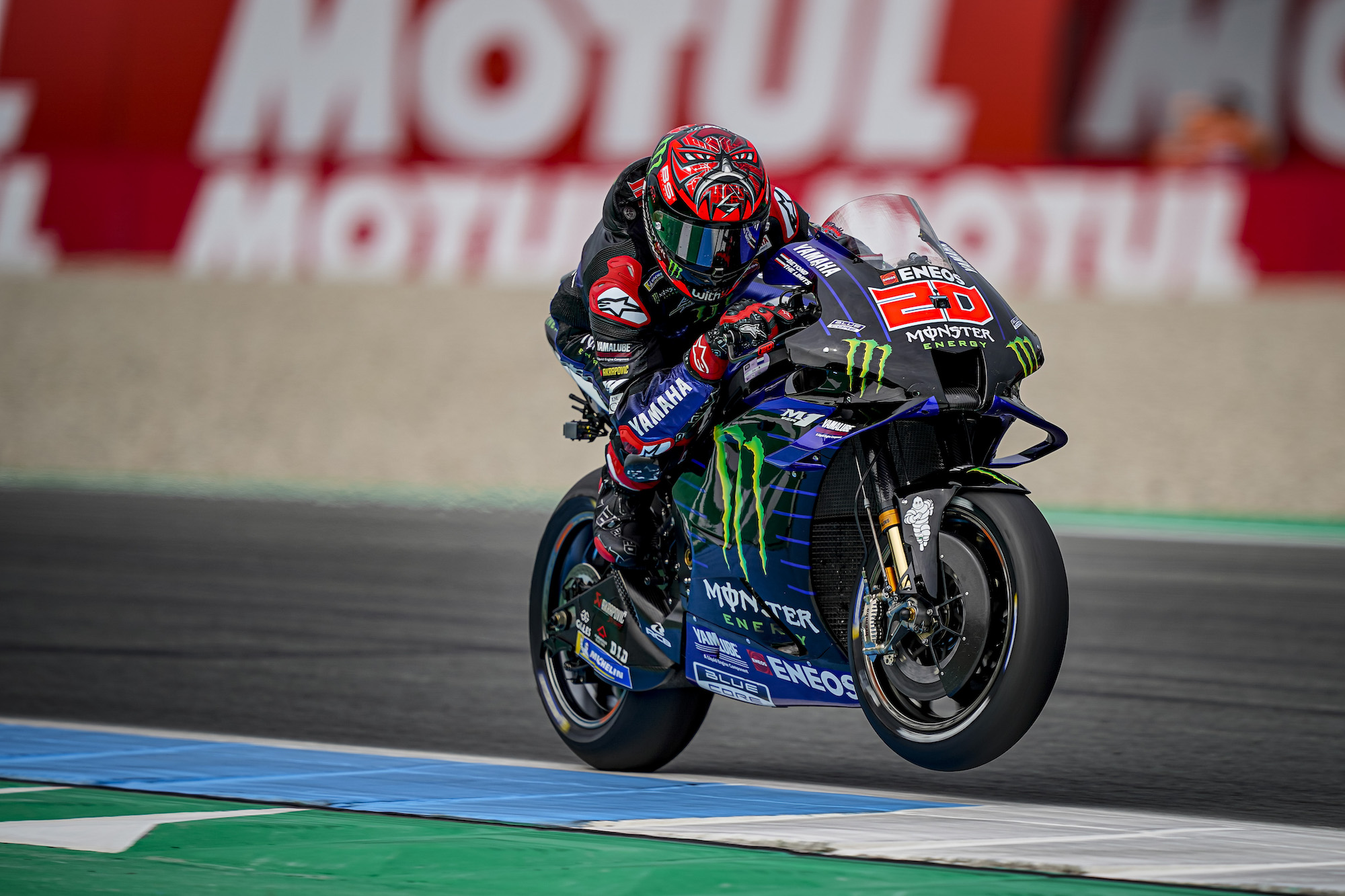Fabio Quartararo w akcji podczas rundy MotoGP w Assen