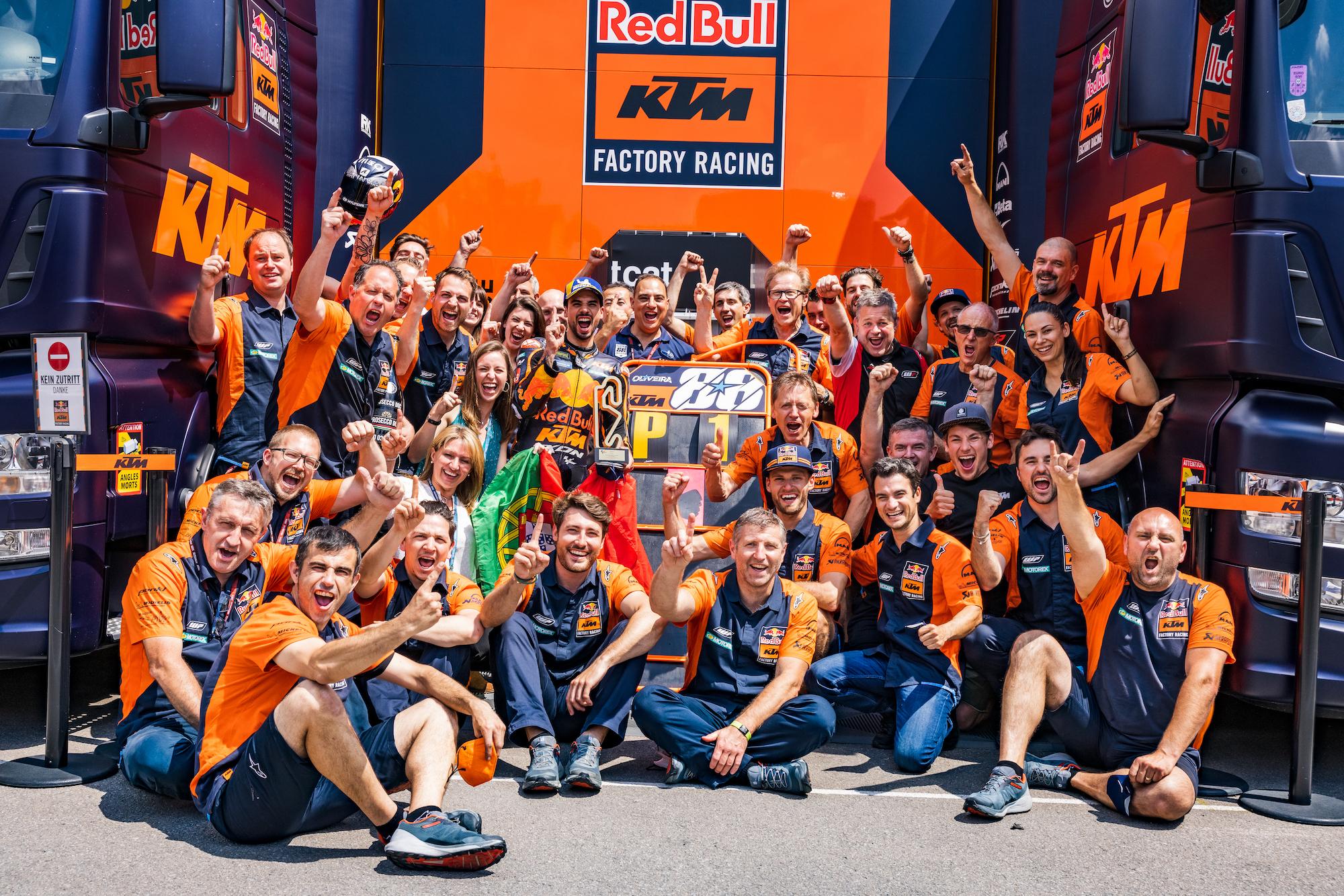 KTM podczas GP Katalonii 2021