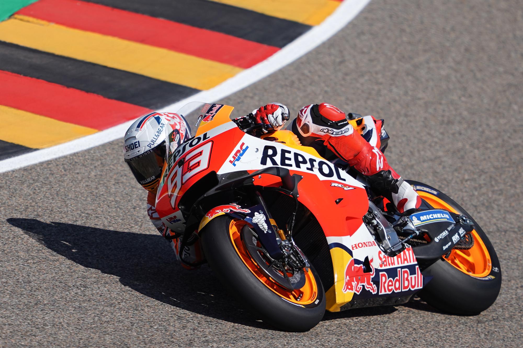 Marc Marquez szybko objął prowadzenie w GP Niemiec