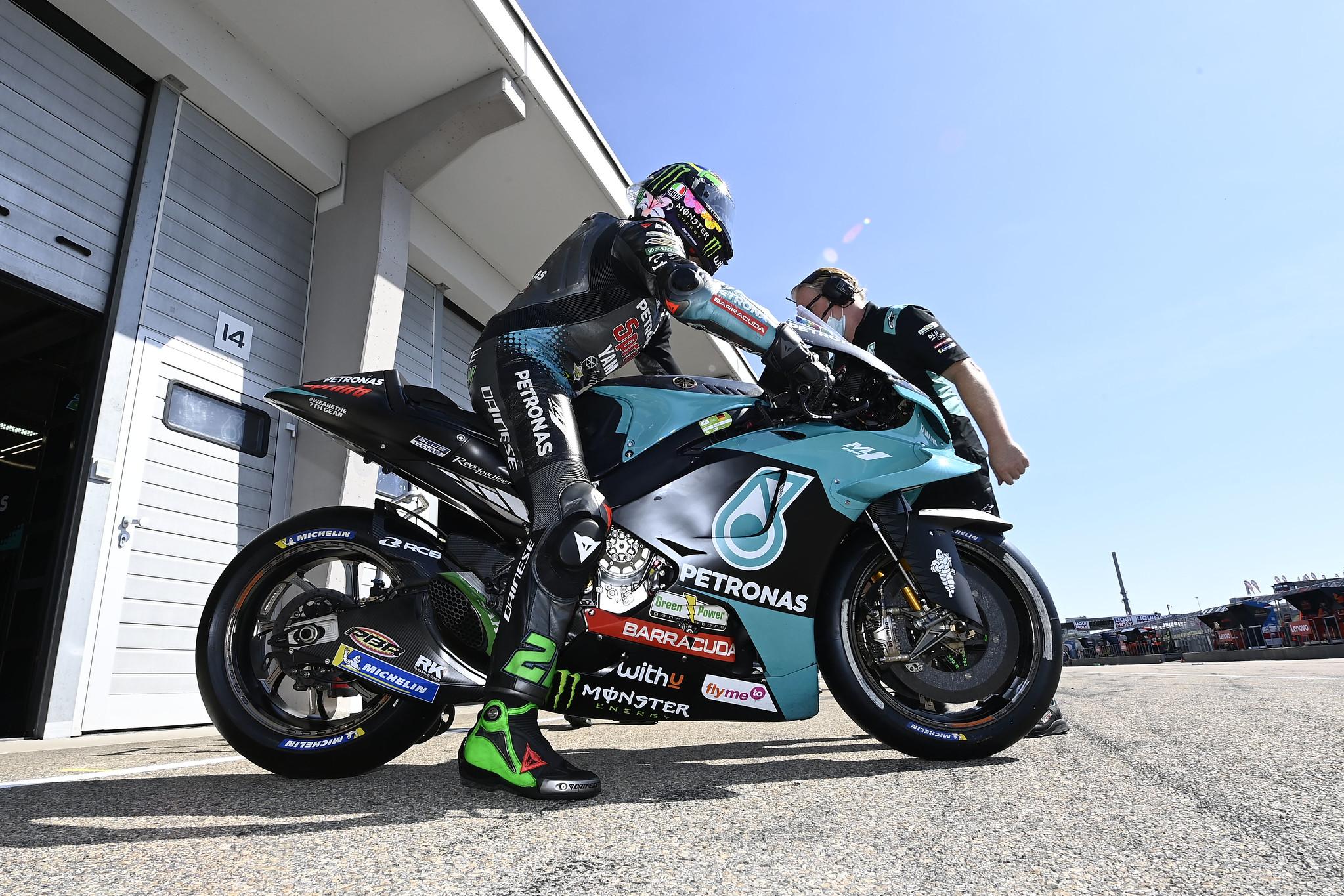 Franco Morbidelli podczas MotoGP w Niemczech