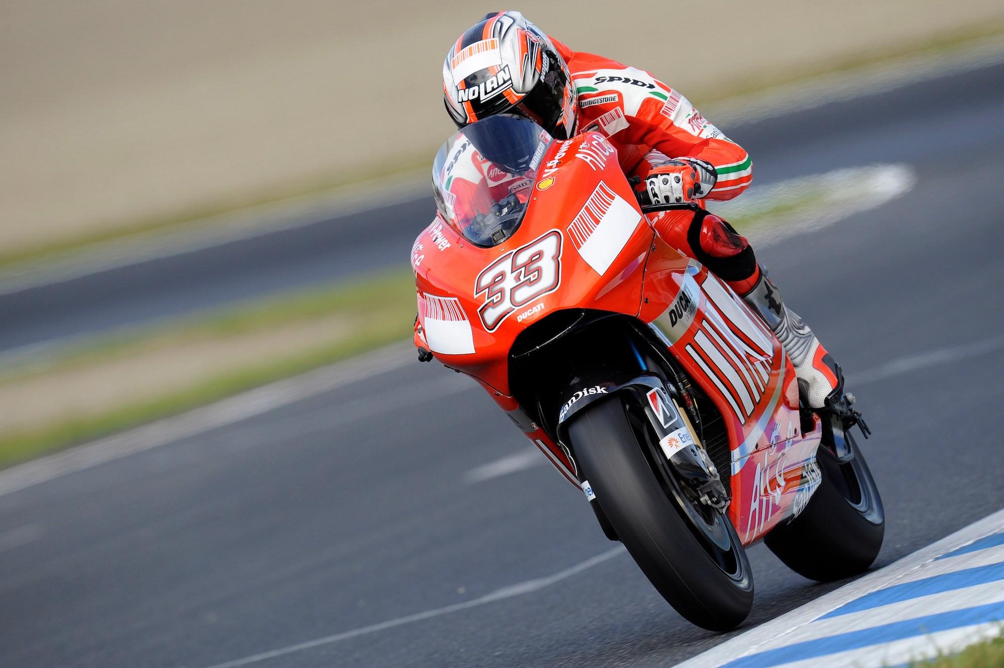 Marc Melandri na Ducati w 2008 roku