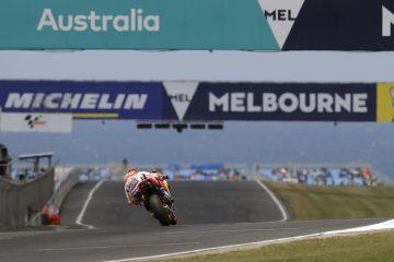 Marc Marquez na torze Phillip Island podczas GP Australii MotoGP