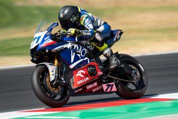 Christoffer Bergman podczas rundy World Supersport na Circuito de Navarra