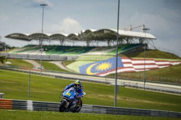 Joan Mir podczas testów MotoGP na torze Sepang w Malezji