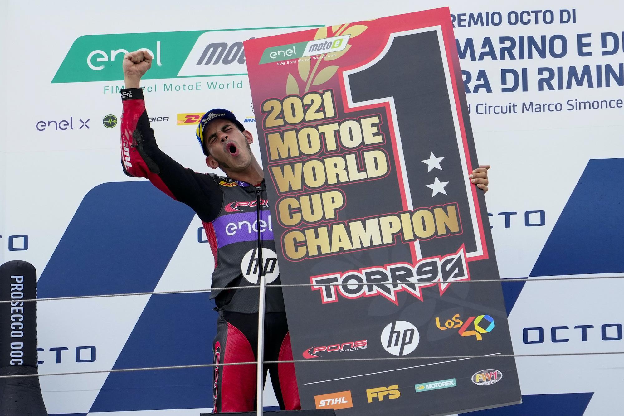 Jordi Torres mistrzem MotoE 2021