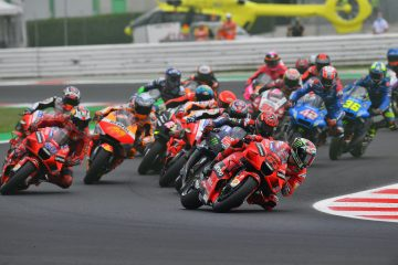 Start wyścigu MotoGP o GP Misano 2021