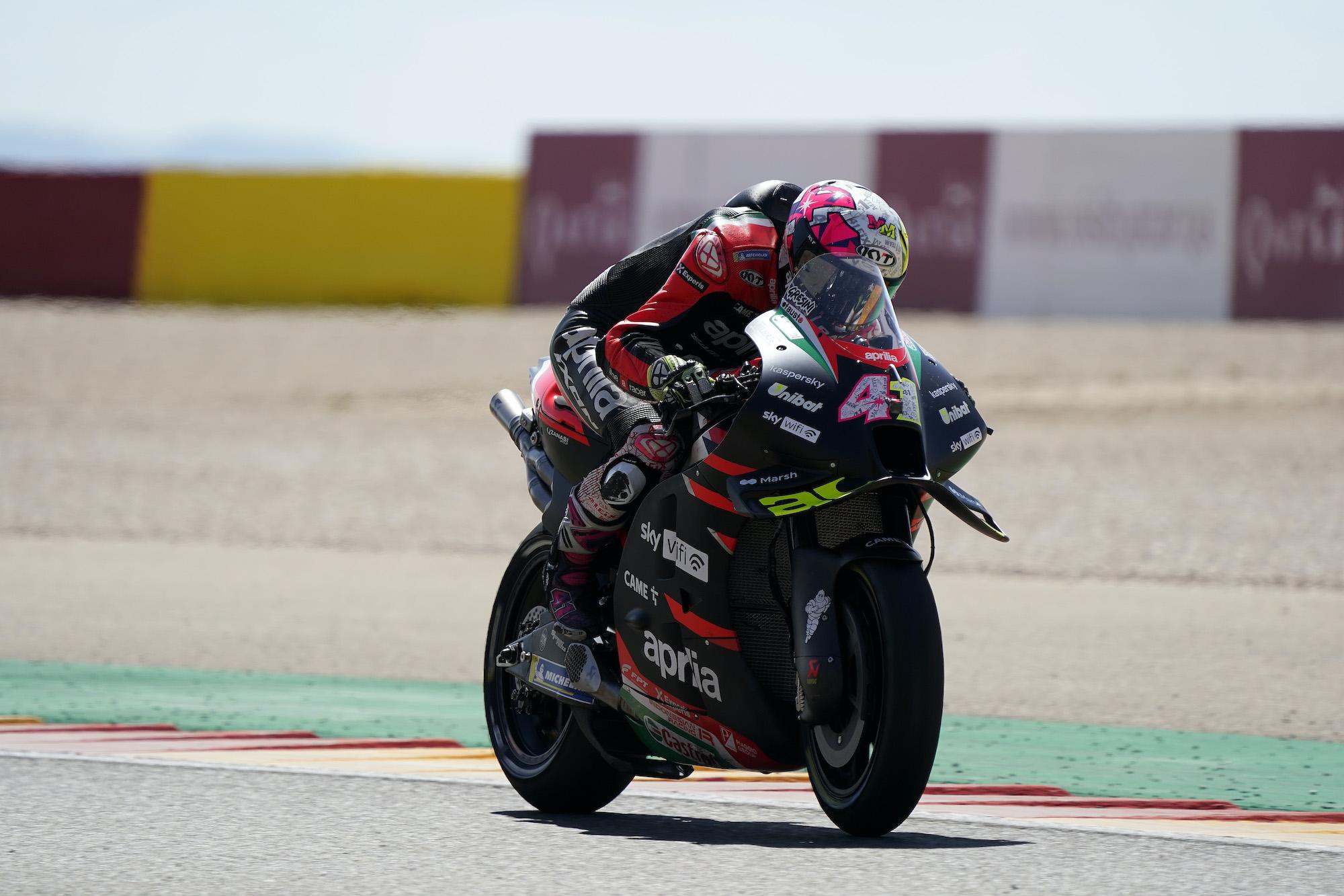 Aleix Espargaro podczas GP Aragonii